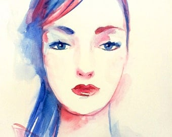 Fashion Illustration ORIGINAL watercolor artwork
