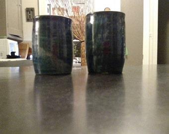 Momma and Poppa No Handle Mug Set