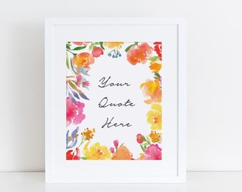 Print: Pretty Posies, 5x7 or 8x10 , Personalized