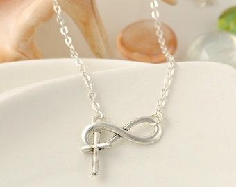 Infinity Cross necklace