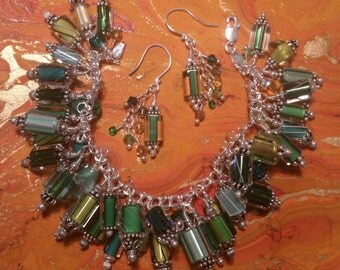 Green Palate Charm Bracelet