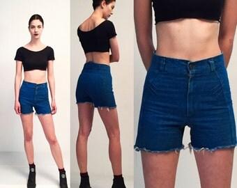 Vintage Blue Denim Jeans Shorts