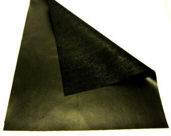 Black Vinyl / Black Faux Leather / Black Vegan Leather / Smooth Black Vinyl
