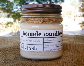 Beck's Banilla 8oz soy candle