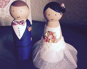 INTRODUCTORY offer - 30% with code YID30 - custom wedding cake Figurines