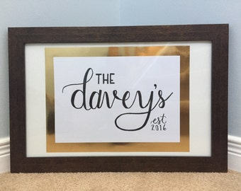 Family Name Sign - 8x10 or 5x7