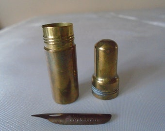 brass cylindrical needle/nib  case
