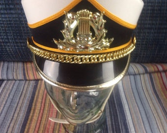 Vintage marching uniform band hat cap size small