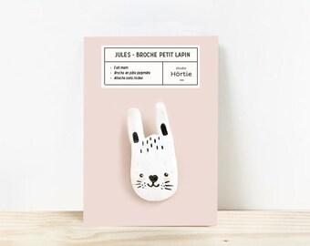 Rabbit brooch / Jules