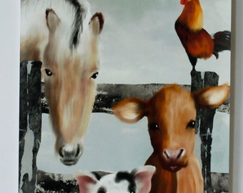 Poster Farm animals