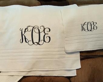 Monogrammed Towel Set/Personalized Towel Set