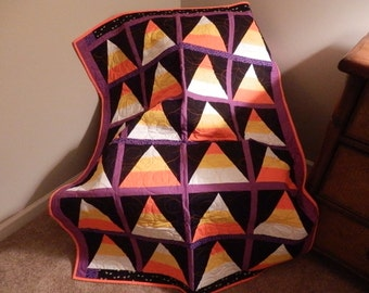 Candy Corn Quilt for Halloween - Trick or Treat