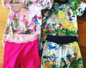 Custom Summer Pyjamas Size 000 to 4