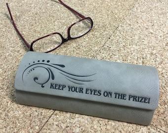 eye glass case, personalized eyeglass case, laser engraved eyeglass case