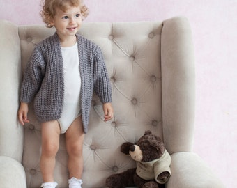 Brown Long Baby Cardigan