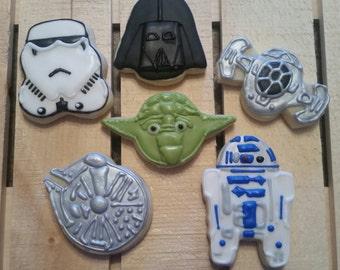 Star Wars - R2D2, Storm Trooper, Yoda, Darth Vader, Millenium Falcon, Fighter
