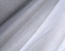Modal organic knit jersey fabric in silver grey sold by 1/2 yard, organic jersey fabric, scarf fabric