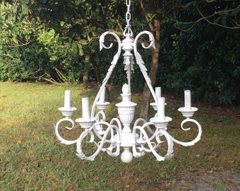 Large White Chandelier, Wedding Chandelier