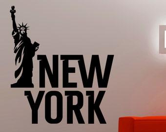 New York Wall Decal Statue Of Liberty Sticker Home Interior Design Living  Room Wall Art Dorm