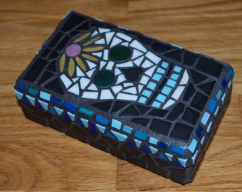 Mosaic Skull Box