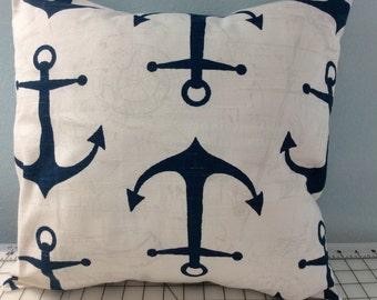 Anchor Pillow Cover -Nautical Pillow-Beach Pillow-Lake Pillow-Coastal Pillow-Tropical Pillow-Anchors-Boat Pillow-Blue Pillow