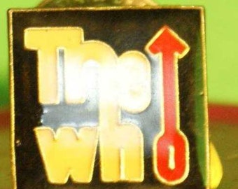 """rock group """"The Who"""" hat pin and pin back  -- 162"""