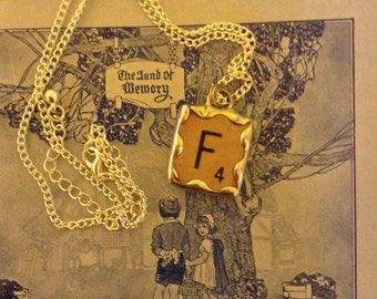 Upcycled scrabble necklace