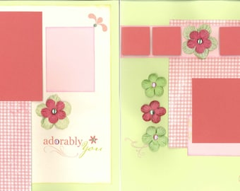 12x12 ADORABLY YOU scrapbook page, premade adorable scrapbook, 12x12 premade scrapbook page, premade scrapbook pages