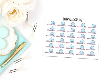 Kawaii Yoga Ball/Exercise/Workout Planner Stickers