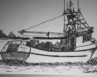 Fishing Boat Leaving Ilwaco, WA...