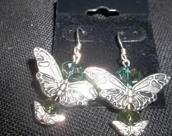 Butter fly earrings