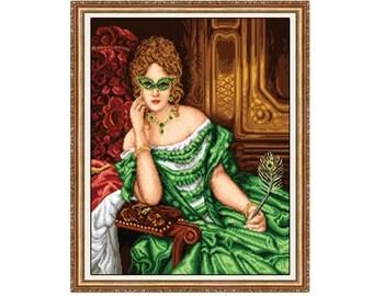 Gobelin kit Lady in green