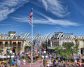 Walt Disney World Main Street USA Gallery Wrap Canvas 20x12