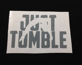 "Just Tumble Gymnastics Decal 2x3.5"""