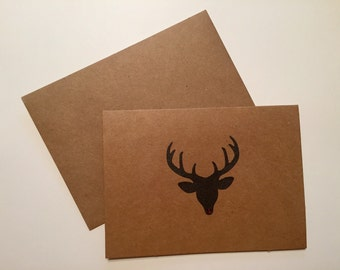 Handmade Reindeer Christmas Cards - Set of 6