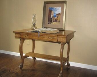 ALEXANDRIA-antique library writing desk quartersawn oak