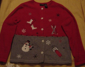 Christmas sweater/jacket size M