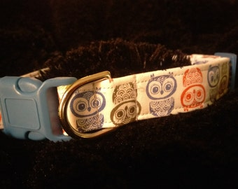 Boutique Style Dog Collars Owls