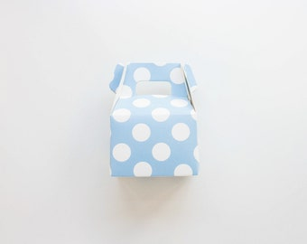 Blue Polka Dot Mini Gable Boxes