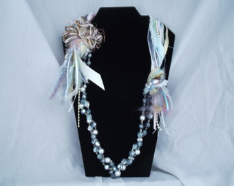 Necklace Ribbons and Beads