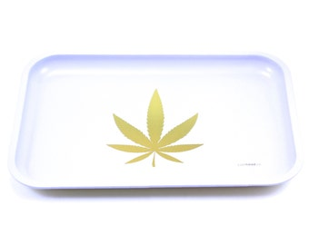 "Full Size Rolling Tray – 12"" x 8"" White Tray – Lionhead"