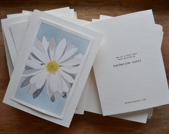 Hand Painted Greeting Card (Daisy)