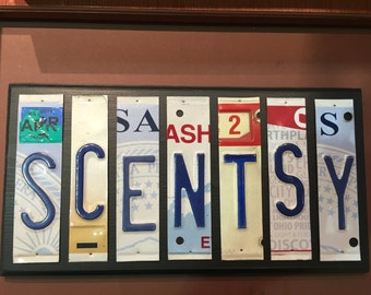 Scentsy Sign. License plate sign. Room decor