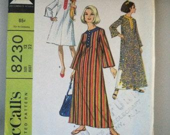 Retro 1960s Beach Robe Pattern McCalls #8230
