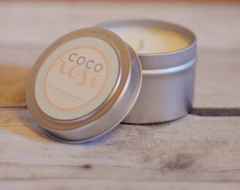 Soy Candle - Small Tin with Lid - 4 ounce