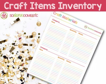 Craft Materials Inventory - Printable