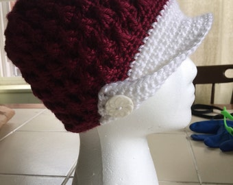 Adorable brimmed beanie (brim optional)
