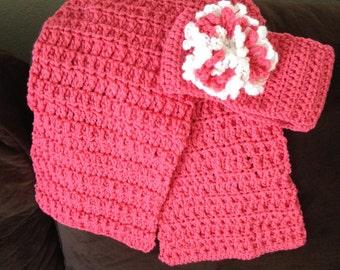 Handmade Crochet Ear Warmers and Scarf Set