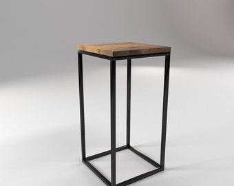 roomify side table TONE 30x30x60cm high - LOFT minimal design industrial