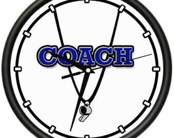 Coach Wall Clock Sports Trainer Athletic Athlete Gym Instructor Gag Gift